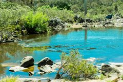The Shoalhaven River near Braidwood Royalty Free Stock Images