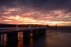 Shoalhaven-Sonnenuntergang Stockfotografie