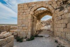 Shobak crusader castle fortress Jordan Stock Image