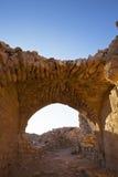 Shobak - fördärvar av en gammal korsfarare slott i Jordanien royaltyfria foton