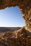 Shobak - fördärvar av en gammal korsfarare slott i Jordanien arkivbilder