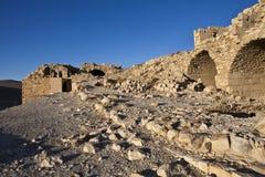 Shobak - fördärvar av en gammal korsfarare slott i Jordanien royaltyfri fotografi