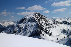 Shober peak from Gasselhohe peak Royalty Free Stock Photo