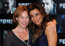 Shobna Gulati, Tanya Franks. Tanya Franks and Shobna Gulati arriving for the Four premiere at the Empire, Leicester Square, London. 10/10/2011 Picture by: Simon Royalty Free Stock Photography