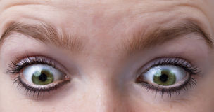 Shock. Eyes of a woman express shock Royalty Free Stock Image