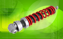 Shock Absorber. Digital illustration of Shock absorber in colour background Royalty Free Stock Photo