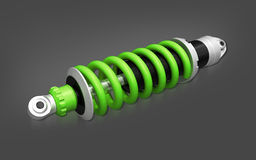 Shock absorber. Car (done in 3d, isolated Stock Images