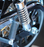Shock absorber. Of a sports motorcycle Royalty Free Stock Photo