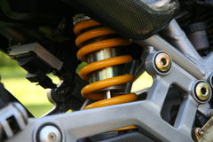Shock Absorber. Motorcycle shock Absorber royalty free stock photography