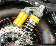 Shock Absorber`s motorcycle for reducing vibration when driving Stock Photography