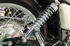Shock Absorber`s motorcycle for reducing vibration when driving Royalty Free Stock Photo