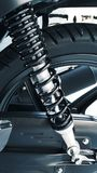 Shock absorber. On the back of a motorcycle Royalty Free Stock Photo