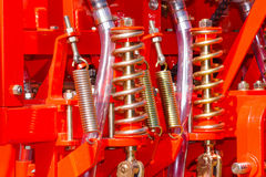 Shock absorber and spring Royalty Free Stock Images