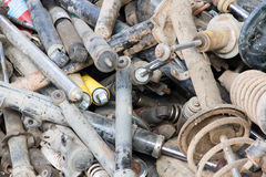 Shock Absorber. In the trashed Stock Image