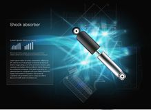 Shock absorber. Vector. EPS10. Cars infographic. royalty free illustration