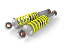 Shock absorber. On white background Royalty Free Stock Images