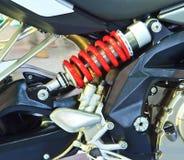 Shock absorbers of ATV car Stock Photos