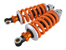 Shock absorbers. For the car on a white background Royalty Free Stock Photography