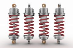 Shock-absorbers. 3d illustration on white background Stock Images