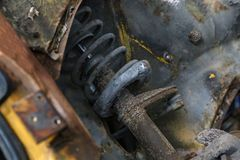 Shock absorbers for an old car.  royalty free stock photography