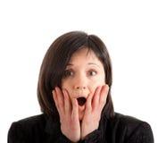 Shock expression Stock Photo