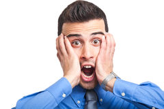 Shock expression Stock Photography