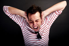 Shock man Royalty Free Stock Image
