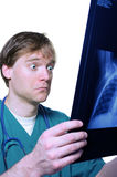 Shock over x ray Stock Photos