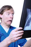 Shock over x ray Royalty Free Stock Image