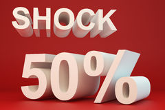 Shock 50 percent Stock Photography