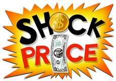 Shock price wording promotion Royalty Free Stock Photo