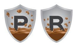 Shock proof and resistance icon . stock illustration