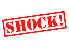 SHOCK!. Red Rubber Stamp over a white background vector illustration