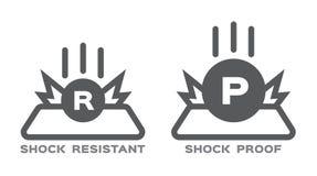 Shock resistance icon . royalty free illustration
