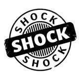 Shock rubber stamp. Grunge design with dust scratches. Effects can be easily removed for a clean, crisp look. Color is easily changed Stock Photo