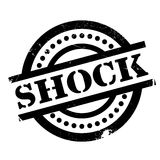 Shock rubber stamp. Grunge design with dust scratches. Effects can be easily removed for a clean, crisp look. Color is easily changed Royalty Free Stock Photo