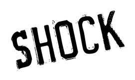 Shock rubber stamp. Grunge design with dust scratches. Effects can be easily removed for a clean, crisp look. Color is easily changed Stock Photos