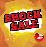 SHOCK SALE text with abstract background Royalty Free Stock Images
