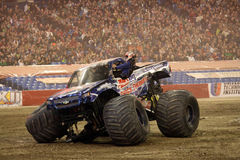 Shock Therapy Monster Jam 2011. Shock Therapy AMSOIL crashed at the Toronto Ontario event of Monster Jam January 2011 at the Rogers Center. Truck driven by Jon Royalty Free Stock Images