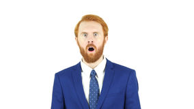 Shock, Unexpected Surprise, Red Hair Beard Businessman Royalty Free Stock Image