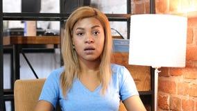 Shock, Upset Afro-American Girl, Failure, Portrait Royalty Free Stock Image