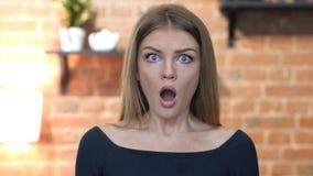 Shock, Upset Beautiful Young Girl, Portrait Stock Photography