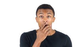 Shock, Wondering Black Man Royalty Free Stock Image