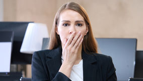 Shock, Upset Woman in Office. High quality Royalty Free Stock Image