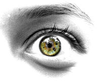 Shocked. An eye with a shocked expression Stock Images