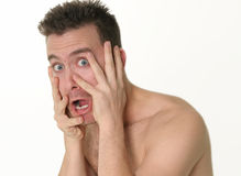 Shocked! stock images