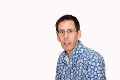 Shocked Adult Man Expression Royalty Free Stock Photos