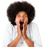 Shocked afro man Stock Photography