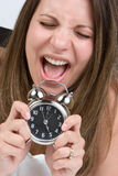 Shocked Alarm Woman Stock Photo