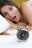 Shocked Alarm Woman Royalty Free Stock Image